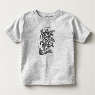Civishi #262 Black - Abstract Leafy Design Toddler T-shirt