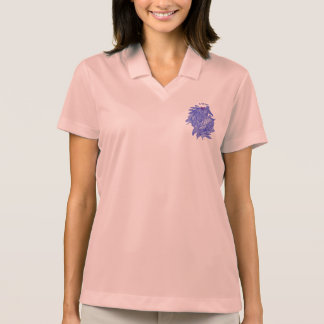 Civishi #294 Blue - Abstract Heart in Seaweed Polo Shirt