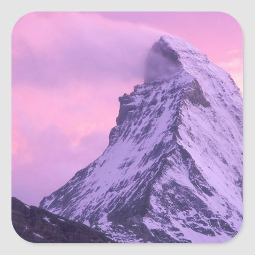 Cizalladura del viento Cervino Suiza del parque Pegatina Cuadrada