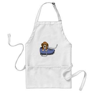 CJ- Beagle Puppy Dog in a Shoe Cartoon Apron