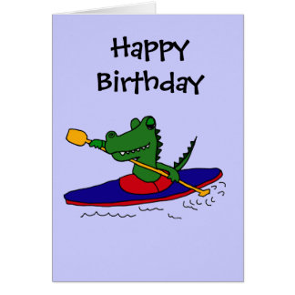 CJ- Funny Gator Kayaking Card