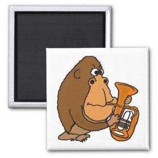 CJ- Funny Gorilla Playing Tuba Magnet