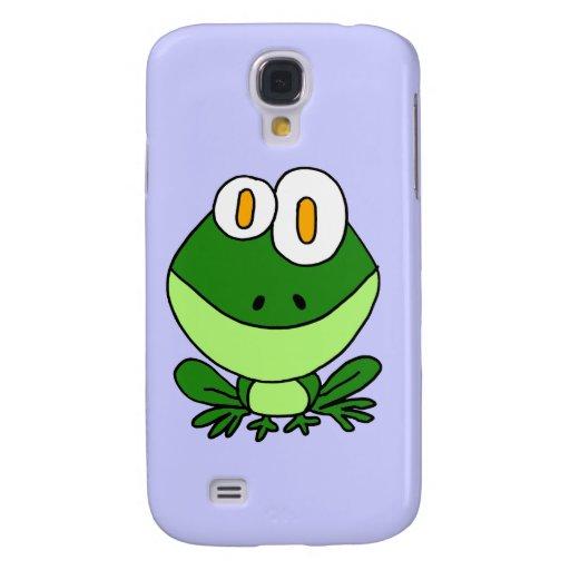 CJ- Funny Sitting Green Frog Cartoon Samsung Galaxy S4 Cover