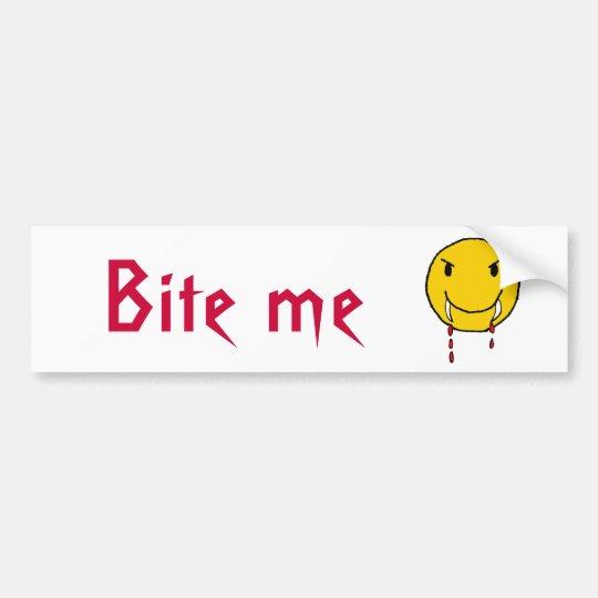 CJ- Funny Vampire Bite me bumper sticker