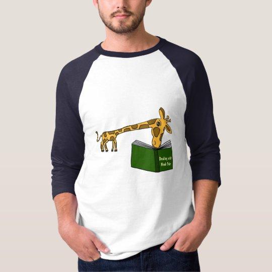 CJ- Giraffe Reading a Bokk Shirt