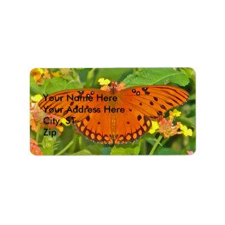 CJ- Monarch Butterfly Address Labels