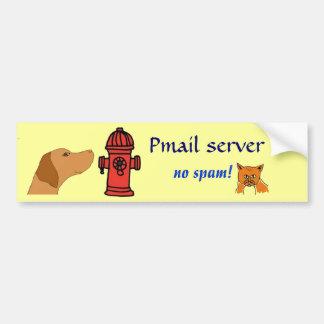 CJ- pegatina para el parachoques del servidor de P Pegatina Para Auto