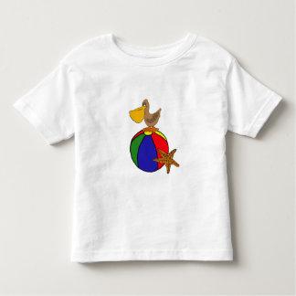 CJ- Pelican on a Beach Ball Shirt
