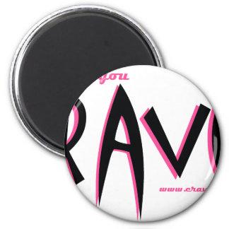 CJ Pink & White 2 Inch Round Magnet
