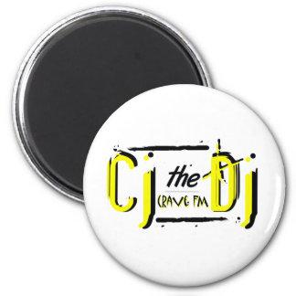 CJtheDJ yellow 2 Inch Round Magnet