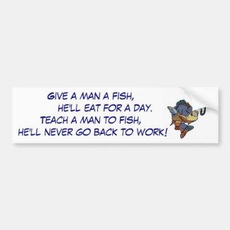 CK- Funny fishing bumper sticker