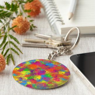 CKC Paint Can Florals-Round Keychain