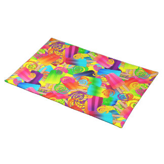 CKC Popsicle Swirls, Yellow-CLOTH PLACEMAT