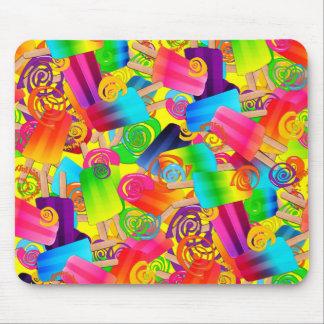 CKC Popsicle Swirls,Yellow-MOUSEPAD Mouse Pad