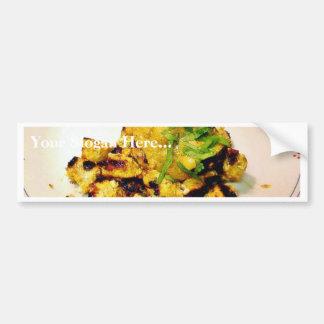 Ckicken Tikka Dinner Cooking Food Indian Car Bumper Sticker