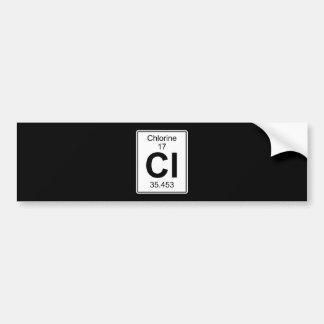 Cl - Chlorine Bumper Sticker