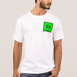 Chlorine periodic table science clothing apparel zazzle cl chlorine chemistry periodic table symbol t shirt urtaz Images