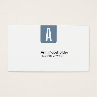 CL Corporate No02 Pigeon Blue Business Card