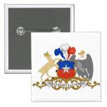 CL del escudo de armas de Chile Pins