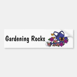 CL- Floral Art Watering Can Design Bumper Sticker