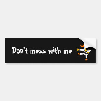 CL- Funny Martial Arts Duck Bumper Sticker