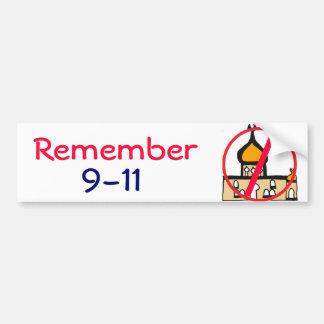 CL- Remember 9-11 Mosque Shirt Bumper Sticker