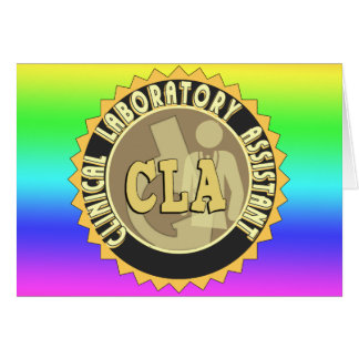 CLA BADGE - CLINICAL LABORATORY ASSISTANT CARD