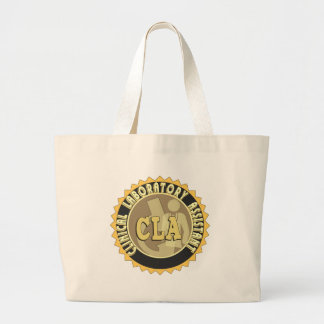 CLA BADGE - CLINICAL LABORATORY ASSISTANT LARGE TOTE BAG