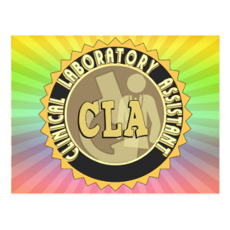 CLA BADGE - CLINICAL LABORATORY ASSISTANT POSTCARD