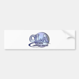CLA FunBlue LOGO - CLINICAL LABORATORY ASSISTANT Bumper Stickers
