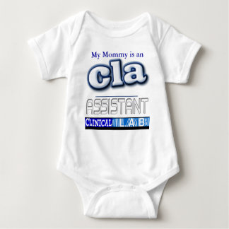 CLA LOGO - ASSISTANT CLINICAL LABORATORY BABY BODYSUIT