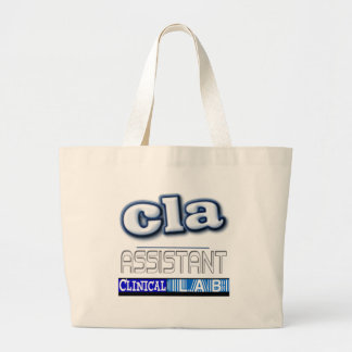 CLA LOGO - ASSISTANT CLINICAL LABORATORY LARGE TOTE BAG