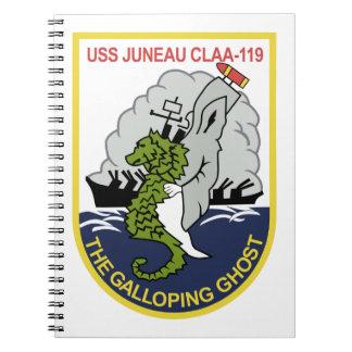 CLAA-119 USS Juneau Lead Ship Light Cruiser Milita Notebook
