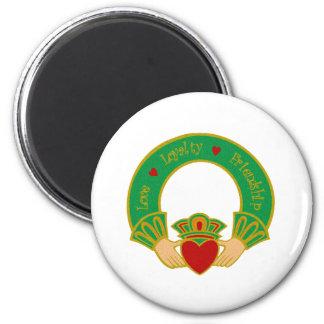 Claddagh 2 Inch Round Magnet