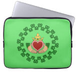 Claddagh and Green Knotwork Computer Sleeve