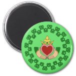 Claddagh and Green Knotwork Magnet