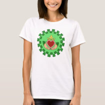 Claddagh and Green Knotwork T-Shirt