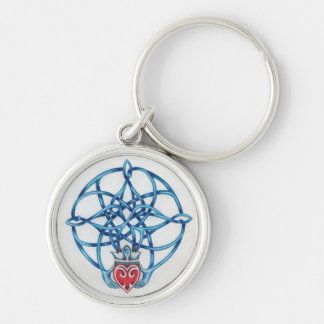 Claddagh Celtic Knot Keychain
