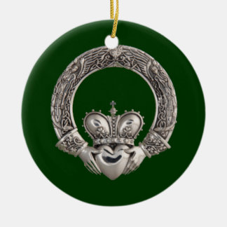 Claddagh Ceramic Ornament