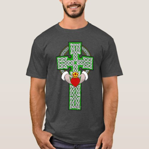 Claddagh Cross Celtic Knotwork Design