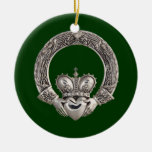 Claddagh Double-Sided Ceramic Round Christmas Ornament