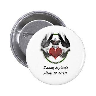 claddagh heart engagement button