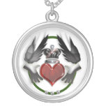 claddagh heart necklaces