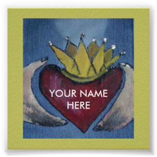 Claddagh Heart Poster YOUR Last Name