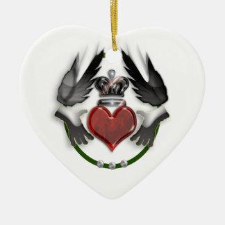 claddagh heart promise ceramic ornament