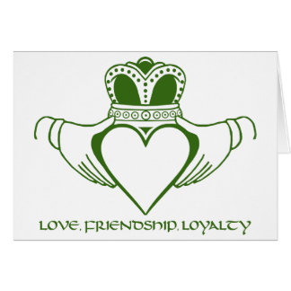 Claddagh Irish symbol card customize