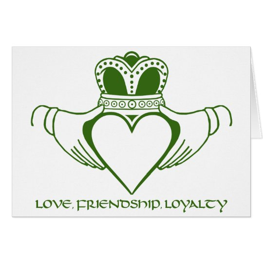 Claddagh Irish Symbol Card Customize Zazzle