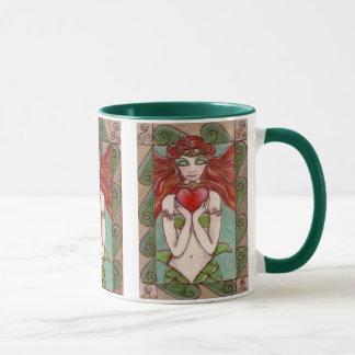 claddagh mermaid coffee mug
