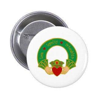 Claddagh Pinback Button