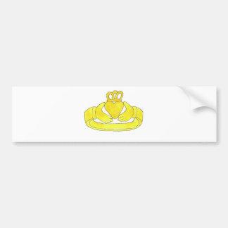 Claddagh Ring Bumper Sticker